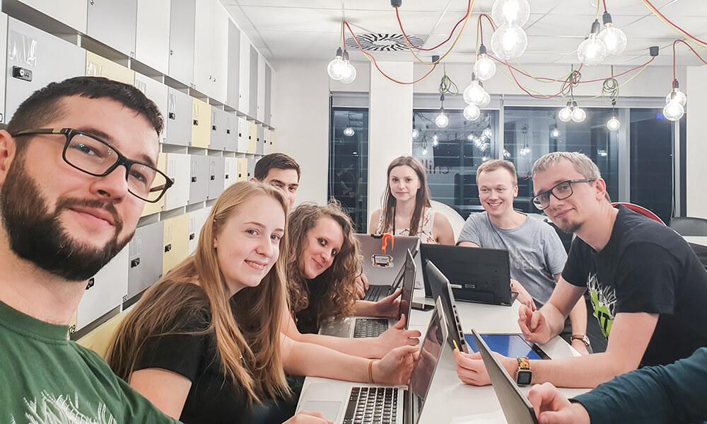 Zespół hackathonu w Katowicach