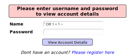 Username password