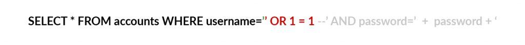 SQL Injection zapytanie